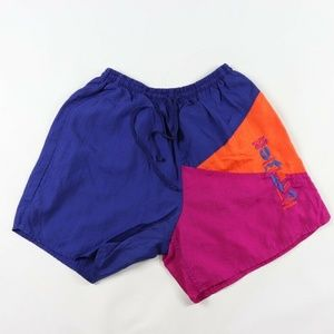 Vintage Umbro Spell Out Color Block Soccer Shorts